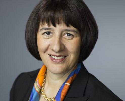 Jasmine Staiblin, CEO von Alpiq posiert am 21. August 2014 in Olten. (KEYSTONE/Gaetan Bally)