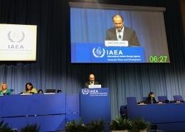Benoît Revaz an der IAEA Generalkonferenz