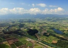 Luftaufnahme Aaretal